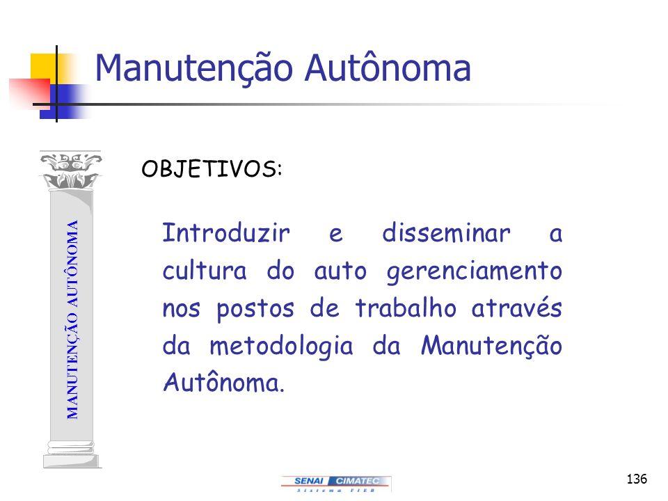 Manutenção Autônoma OBJETIVOS:
