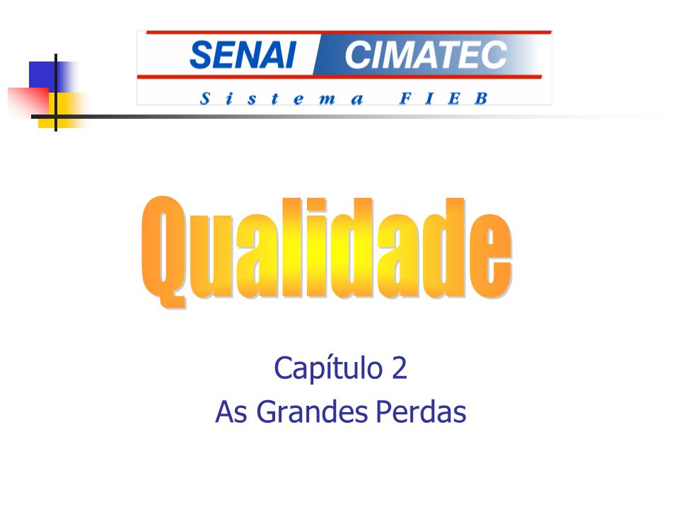 Capítulo 2 As Grandes Perdas