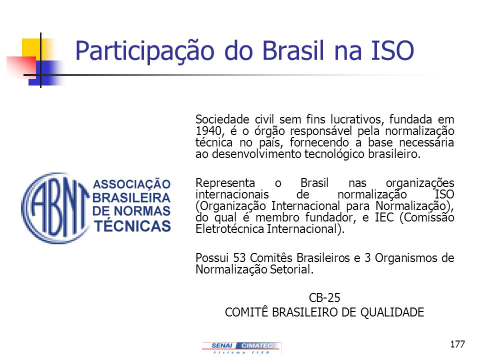 Participação do Brasil na ISO