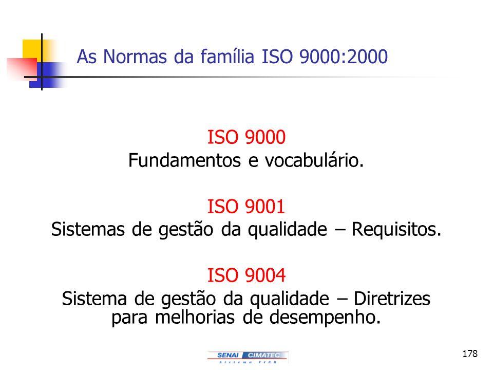 As Normas da família ISO 9000:2000