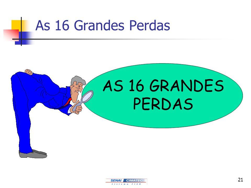 As 16 Grandes Perdas AS 16 GRANDES PERDAS