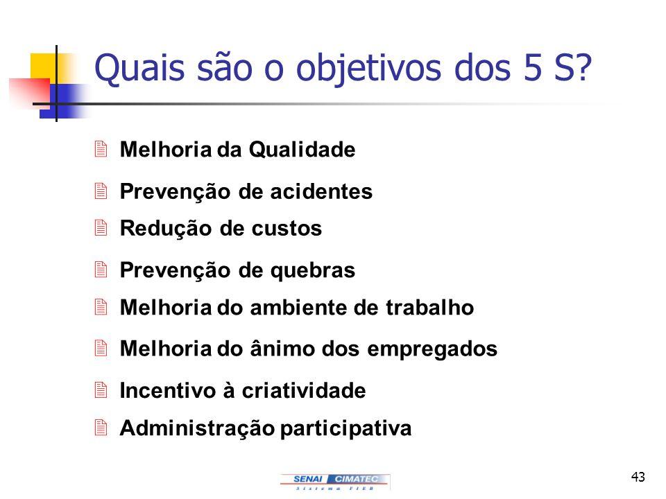 Quais são o objetivos dos 5 S