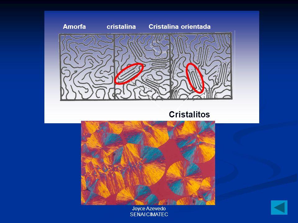 Cristalitos Amorfa cristalina Cristalina orientada Joyce Azevedo