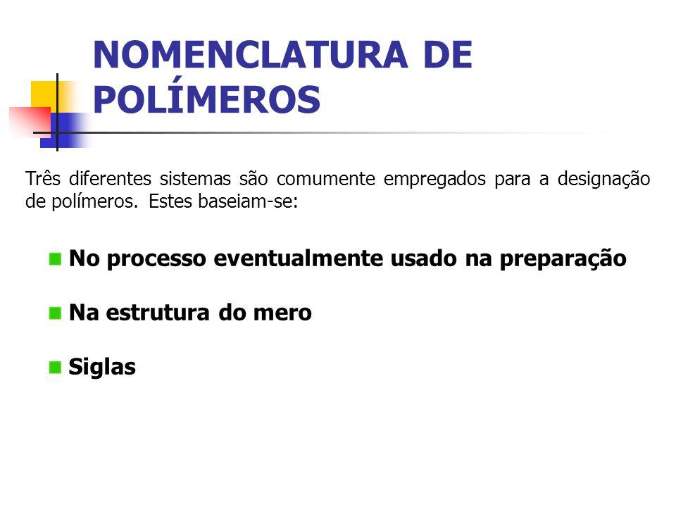 NOMENCLATURA DE POLÍMEROS