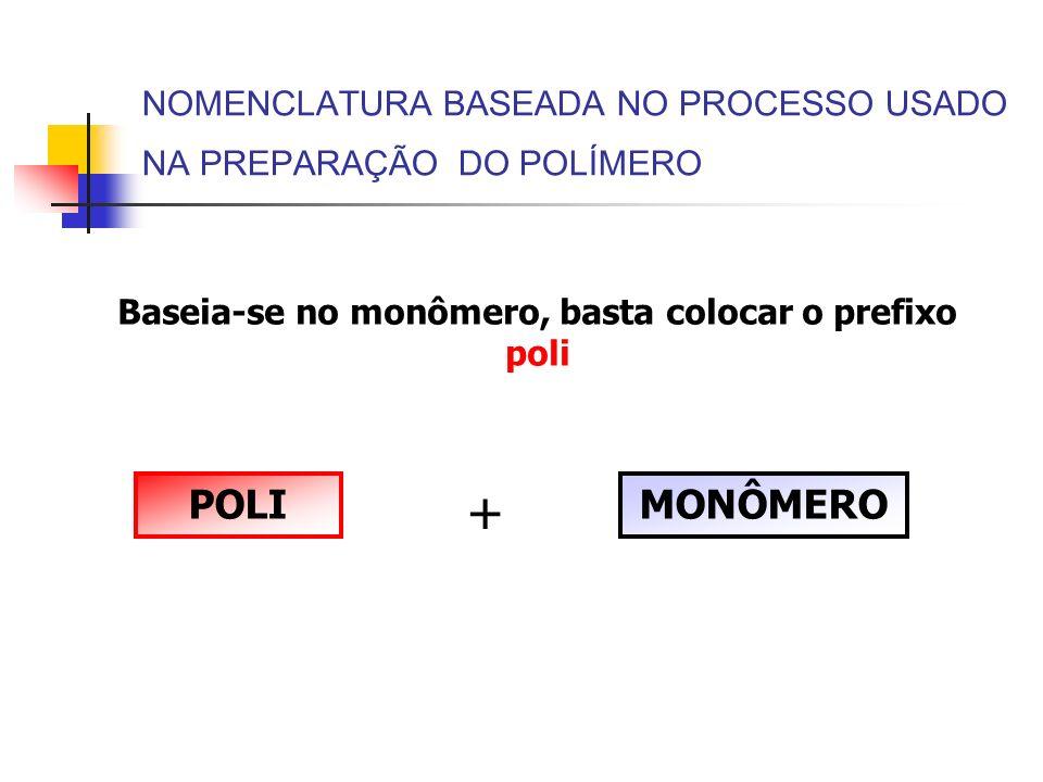 NOMENCLATURA BASEADA NO PROCESSO USADO NA PREPARAÇÃO DO POLÍMERO