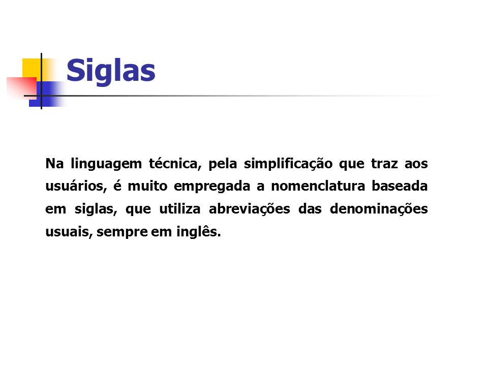 Siglas