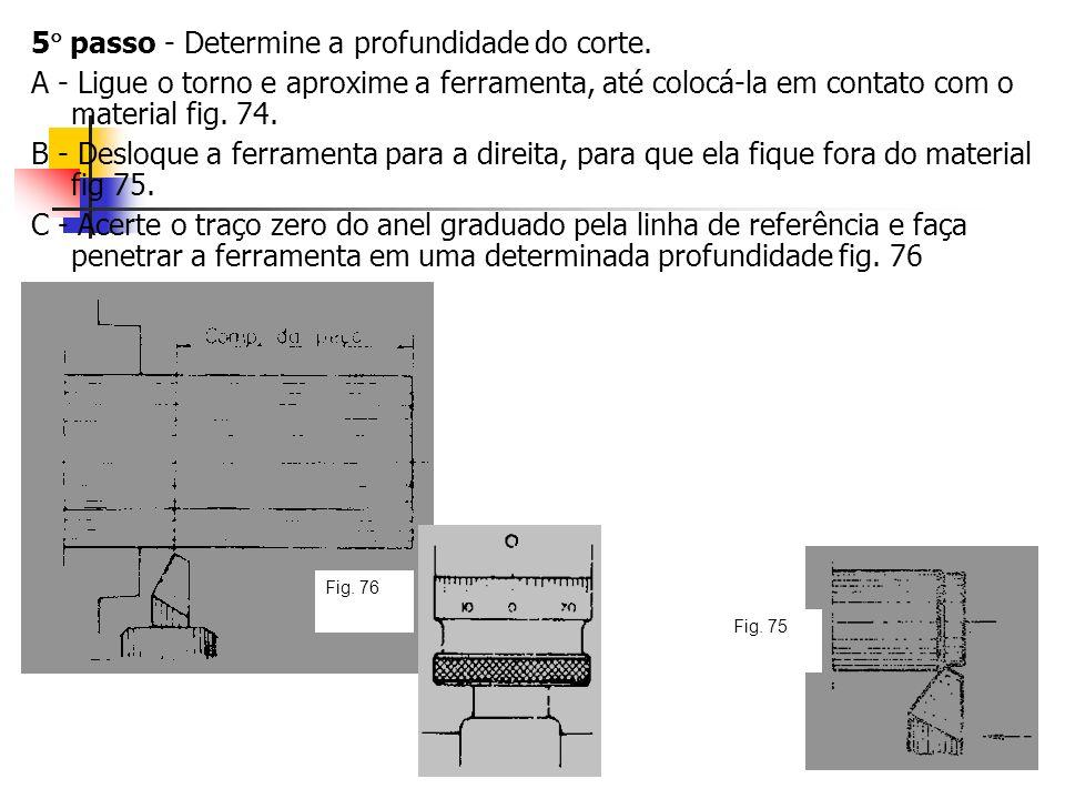 5 passo - Determine a profundidade do corte.