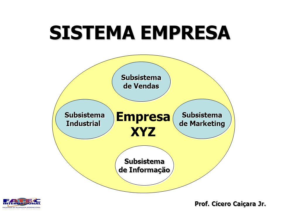 SISTEMA EMPRESA Empresa XYZ Subsistema de Vendas Subsistema Subsistema