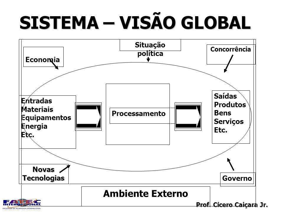 SISTEMA – VISÃO GLOBAL Ambiente Externo Situação política Economia