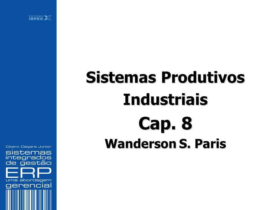 Sistemas Produtivos Industriais Cap. 8 Wanderson S. Paris