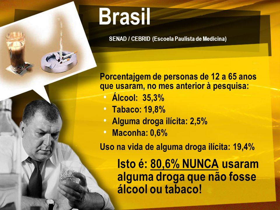 Brasil SENAD / CEBRID (Escoela Paulista de Medicina)