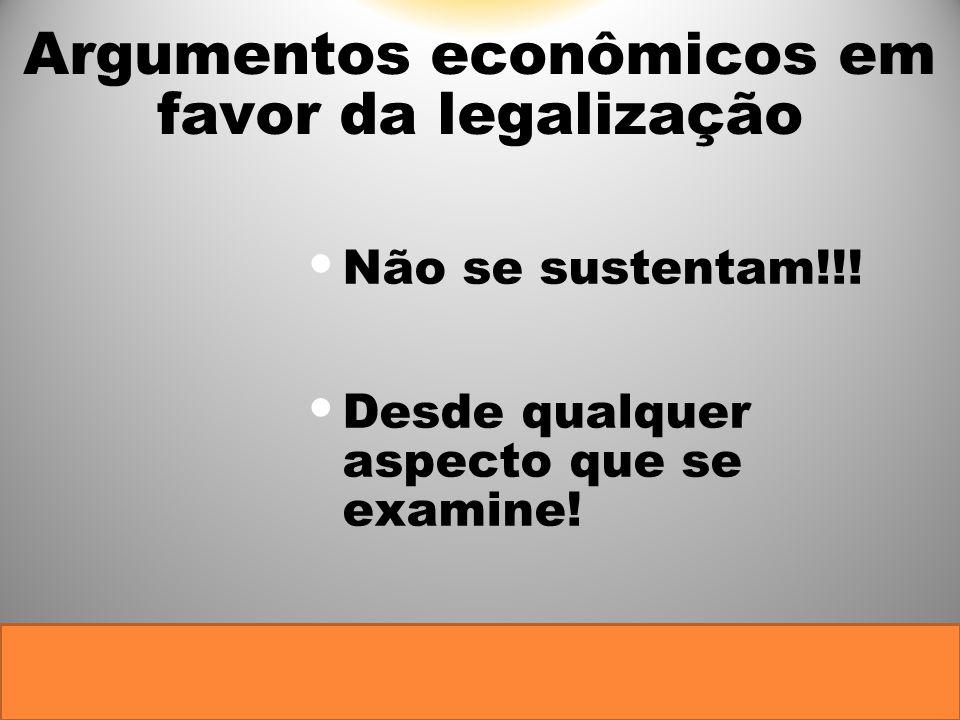 Argumentos econômicos em favor da legalização
