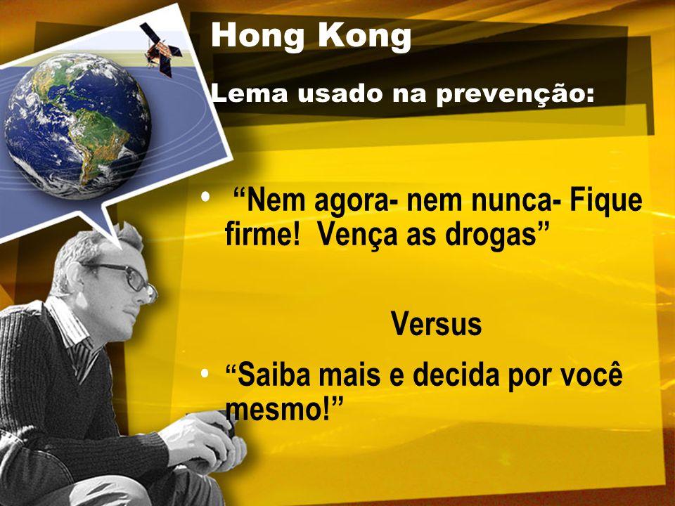 Hong Kong Lema usado na prevenção: