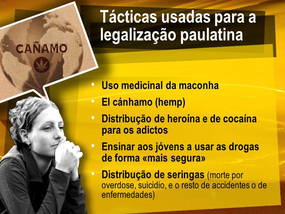 Tácticas usadas para a legalização paulatina