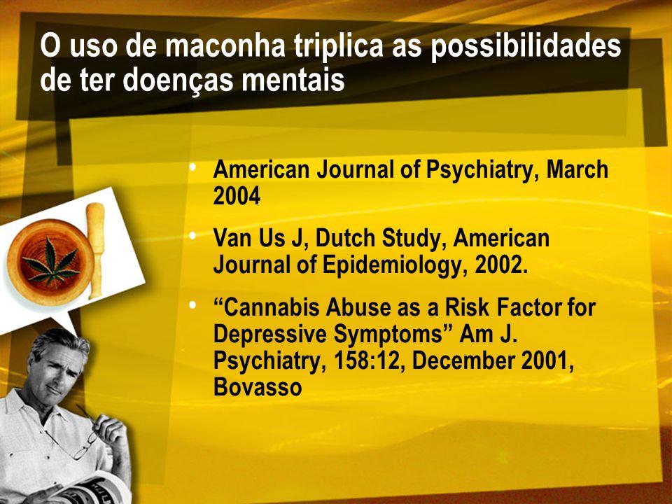 O uso de maconha triplica as possibilidades de ter doenças mentais