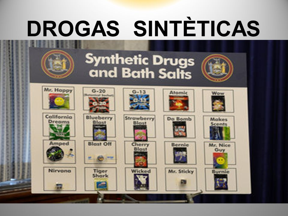 DROGAS SINTÈTICAS