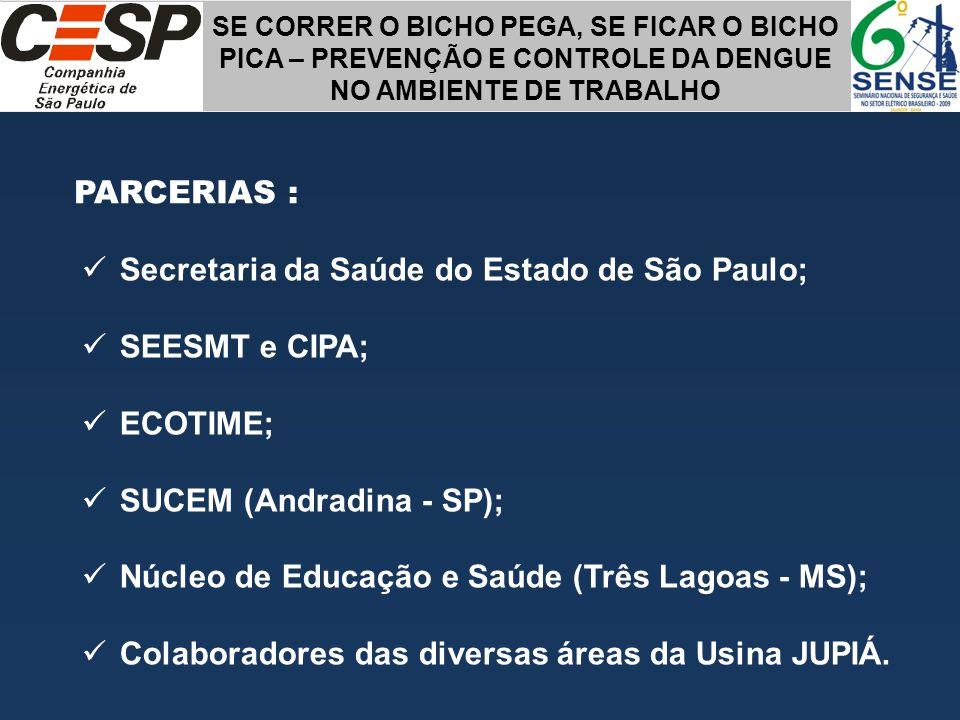 Secretaria da Saúde do Estado de São Paulo; SEESMT e CIPA; ECOTIME;