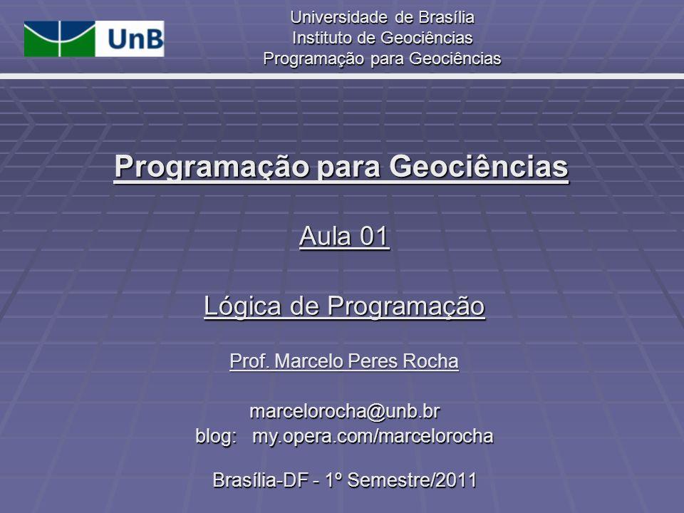 Programação para Geociências