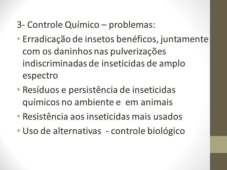 3- Controle Químico – problemas: