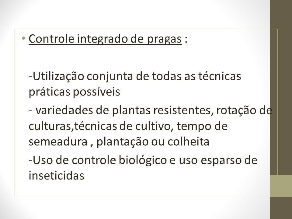Controle integrado de pragas :