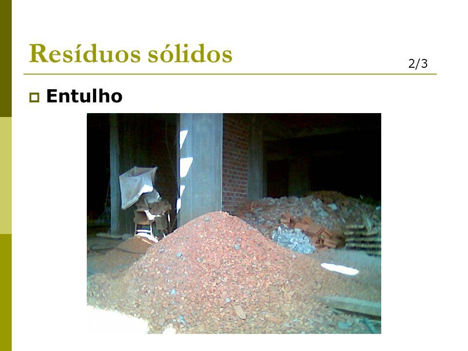Resíduos sólidos 2/3 Entulho