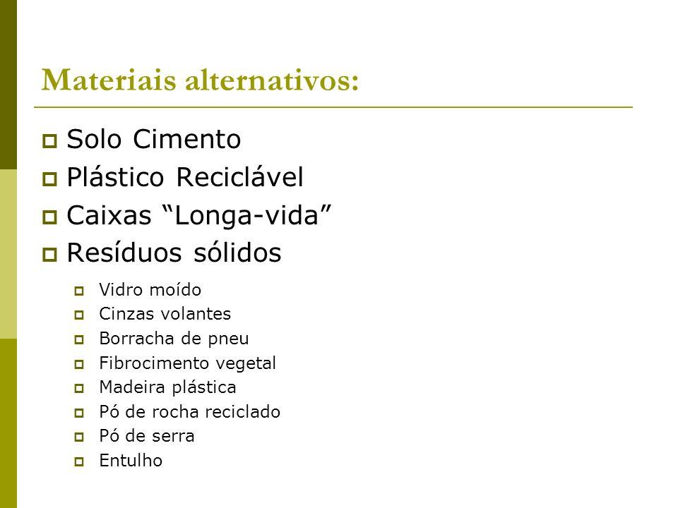 Materiais alternativos: