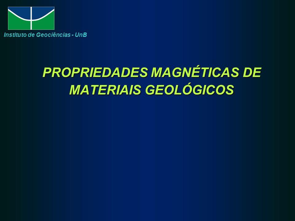 PROPRIEDADES MAGNÉTICAS DE MATERIAIS GEOLÓGICOS