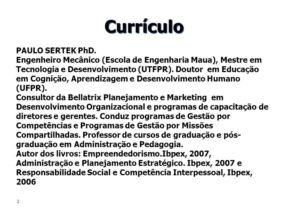 Currículo PAULO SERTEK PhD.
