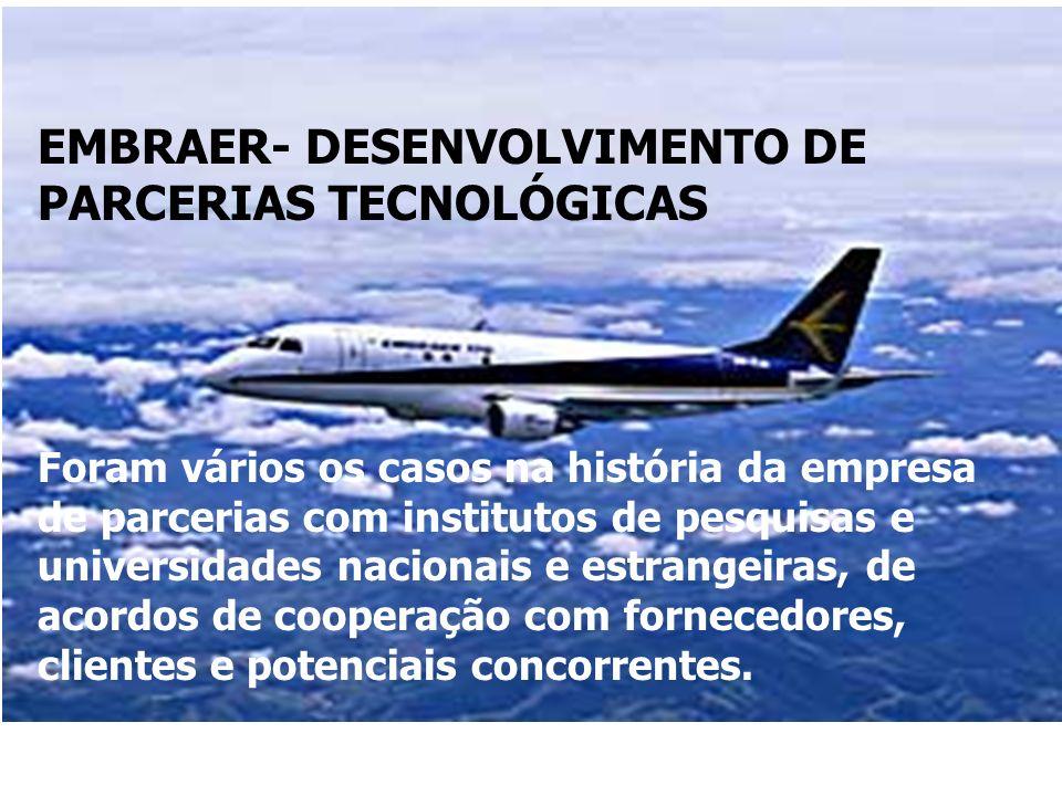 EMBRAER- DESENVOLVIMENTO DE PARCERIAS TECNOLÓGICAS