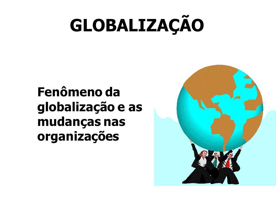 GLOBALIZAÇÃO Fenômeno da globalização e as mudanças nas organizações
