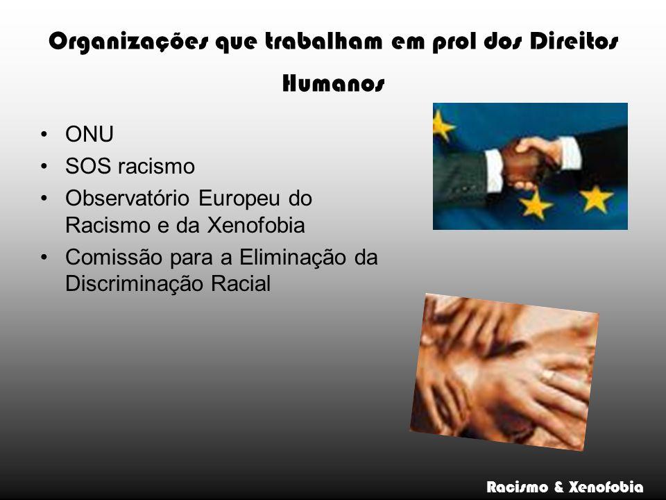 Organizações que trabalham em prol dos Direitos Humanos