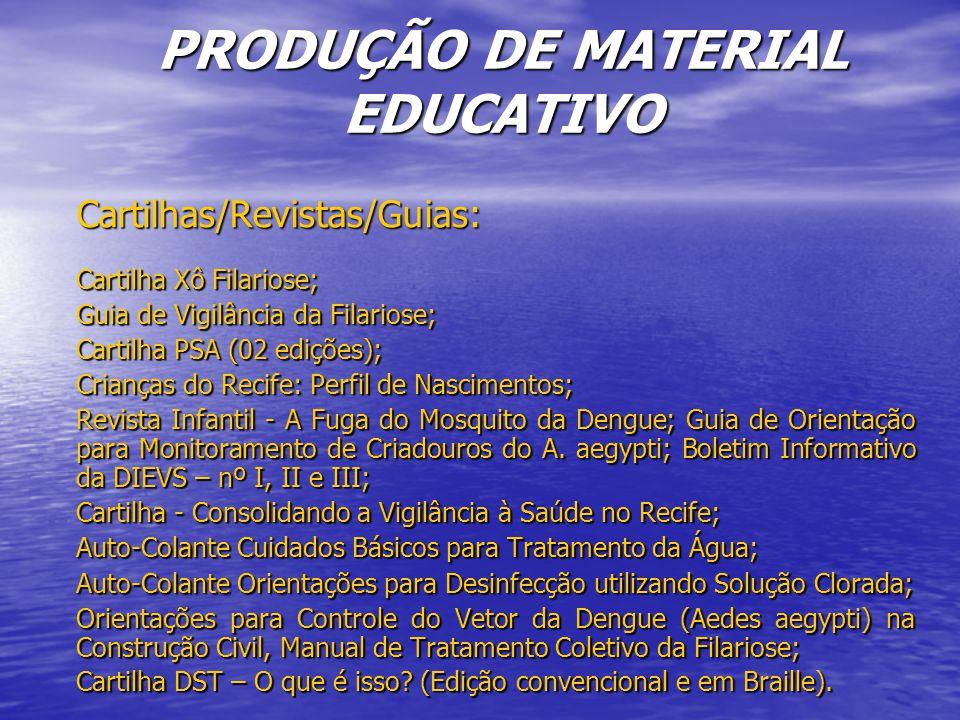 PRODUÇÃO DE MATERIAL EDUCATIVO