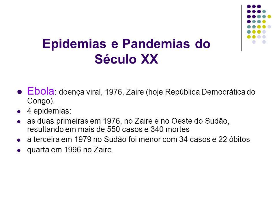 Epidemias e Pandemias do Século XX