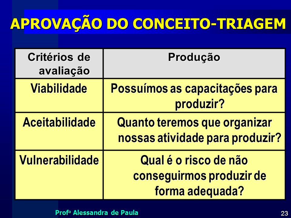 APROVAÇÃO DO CONCEITO-TRIAGEM