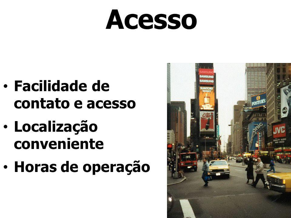 Acesso Facilidade de contato e acesso Localização conveniente