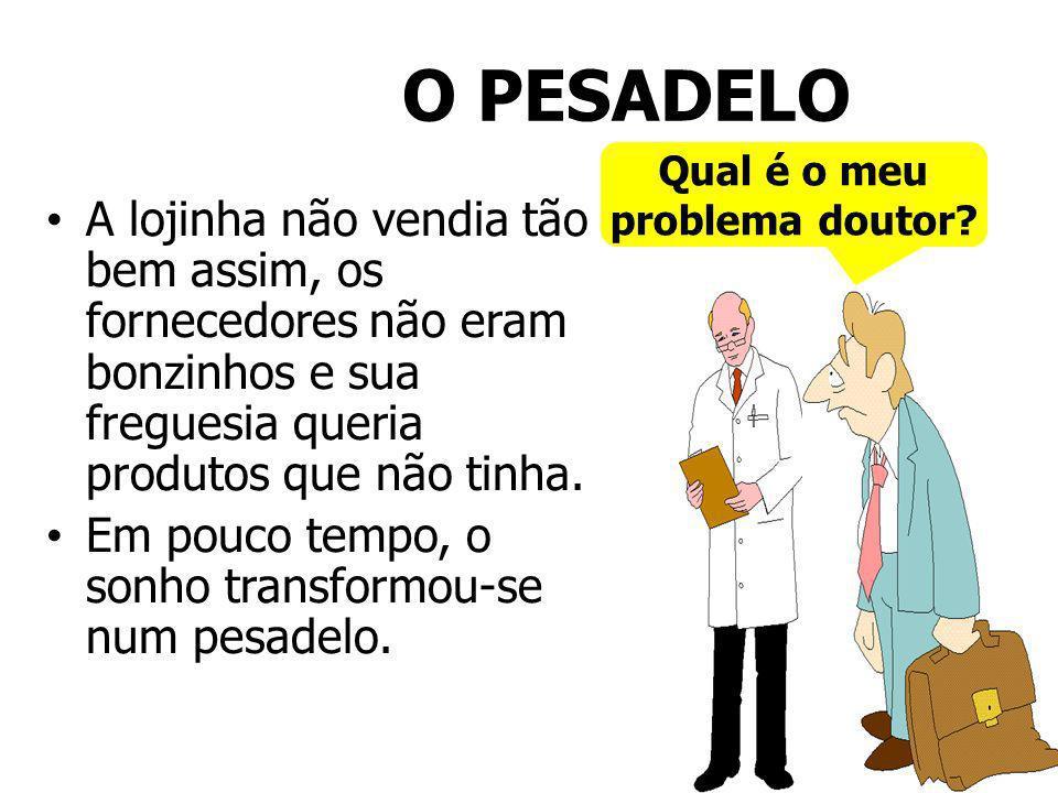 O PESADELO Qual é o meu. problema doutor