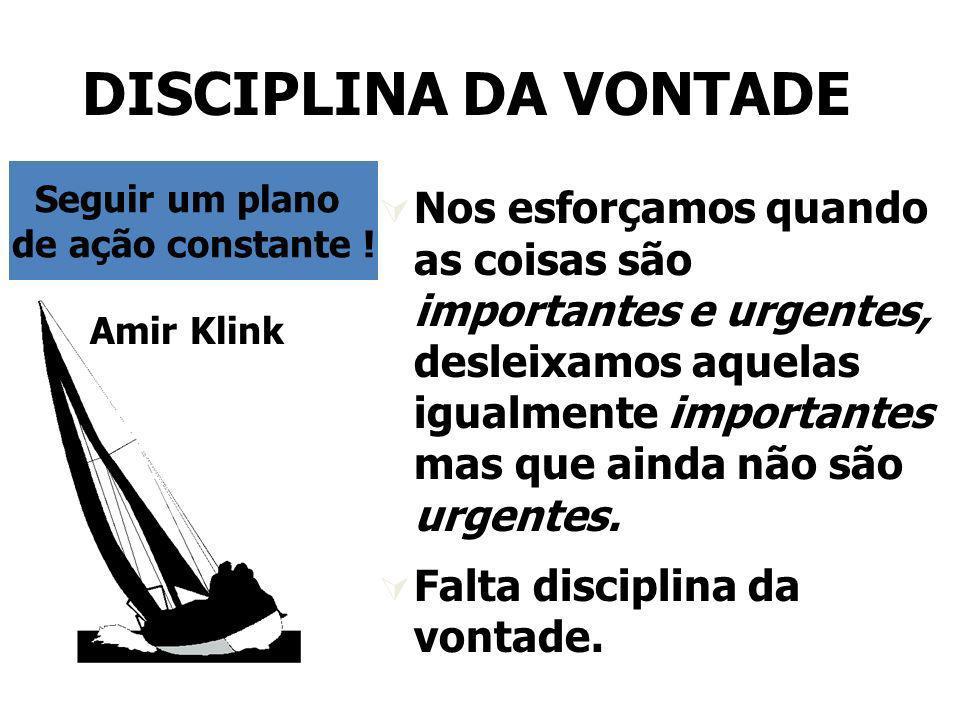 DISCIPLINA DA VONTADE Seguir um plano. de ação constante !