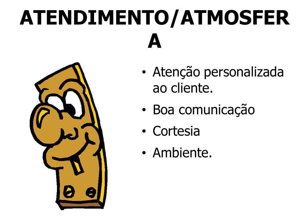 ATENDIMENTO/ATMOSFERA