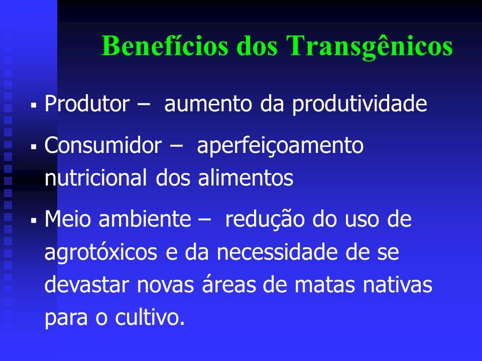 Benefícios dos Transgênicos