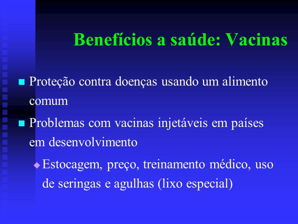 Benefícios a saúde: Vacinas
