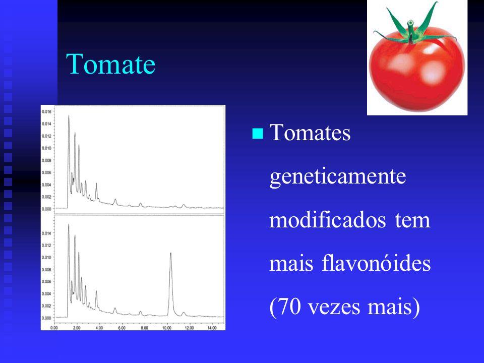 Tomate Tomates geneticamente modificados tem mais flavonóides (70 vezes mais)