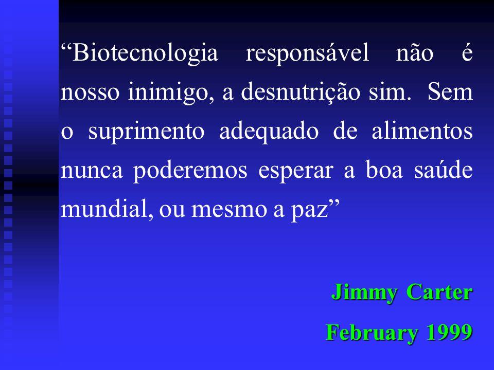 Biotecnologia responsável não é nosso inimigo, a desnutrição sim