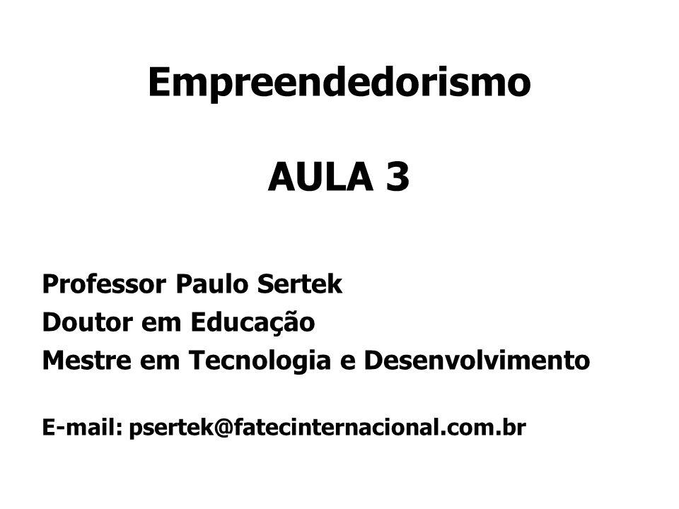 Empreendedorismo AULA 3