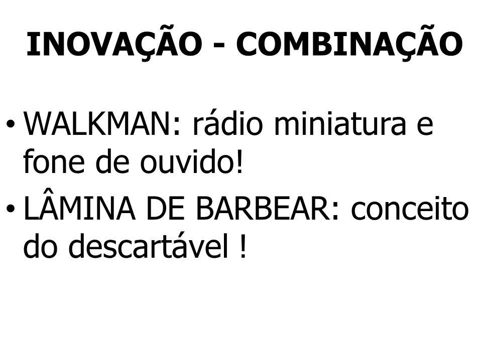 INOVAÇÃO - COMBINAÇÃO WALKMAN: rádio miniatura e fone de ouvido.