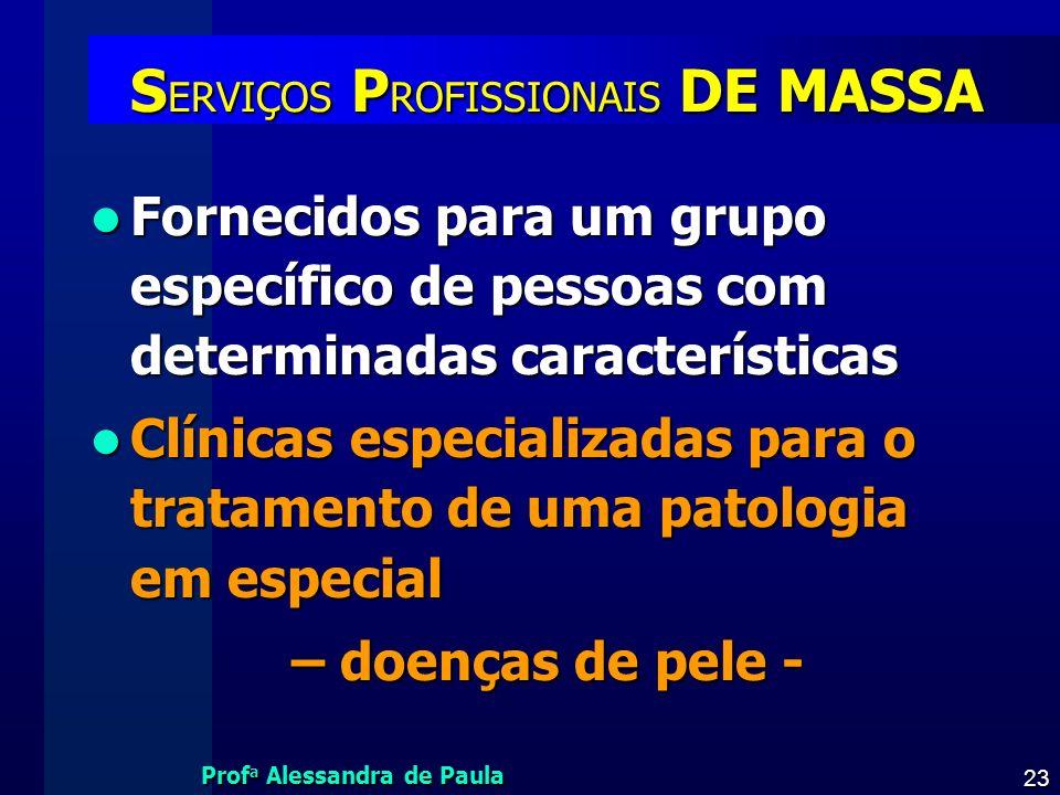 SERVIÇOS PROFISSIONAIS DE MASSA