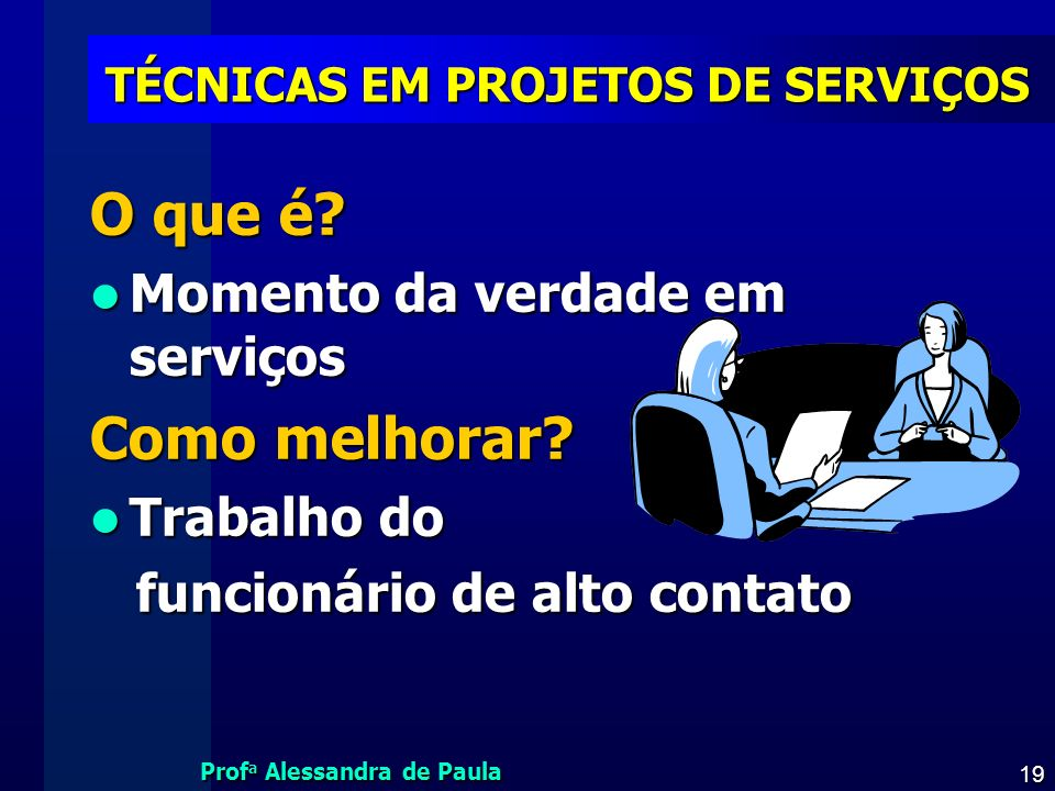 TÉCNICAS EM PROJETOS DE SERVIÇOS