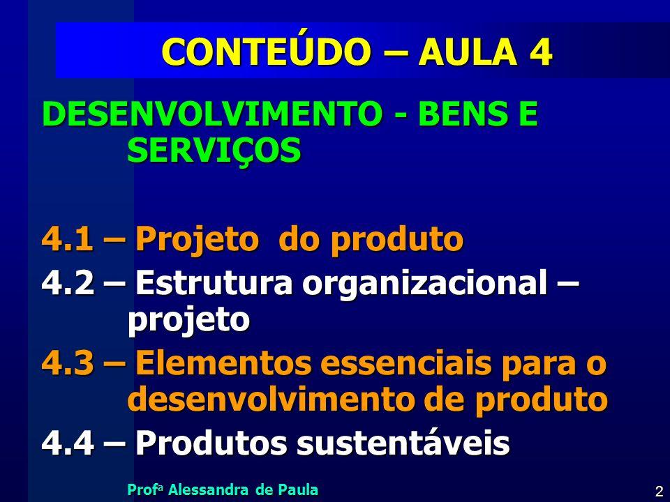 CONTEÚDO – AULA 4 DESENVOLVIMENTO - BENS E SERVIÇOS