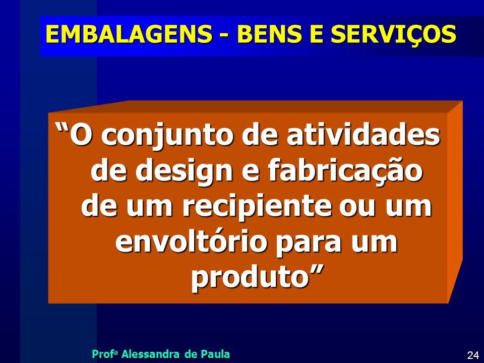 EMBALAGENS - BENS E SERVIÇOS