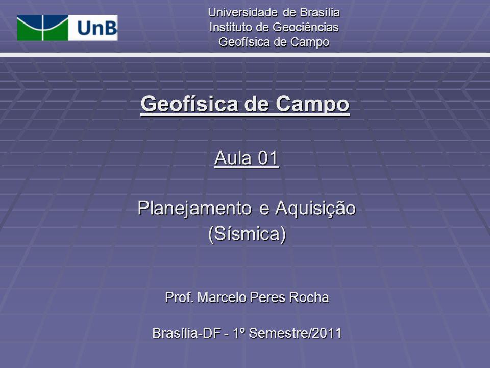 Geofísica de Campo Aula 01 Planejamento e Aquisição (Sísmica)
