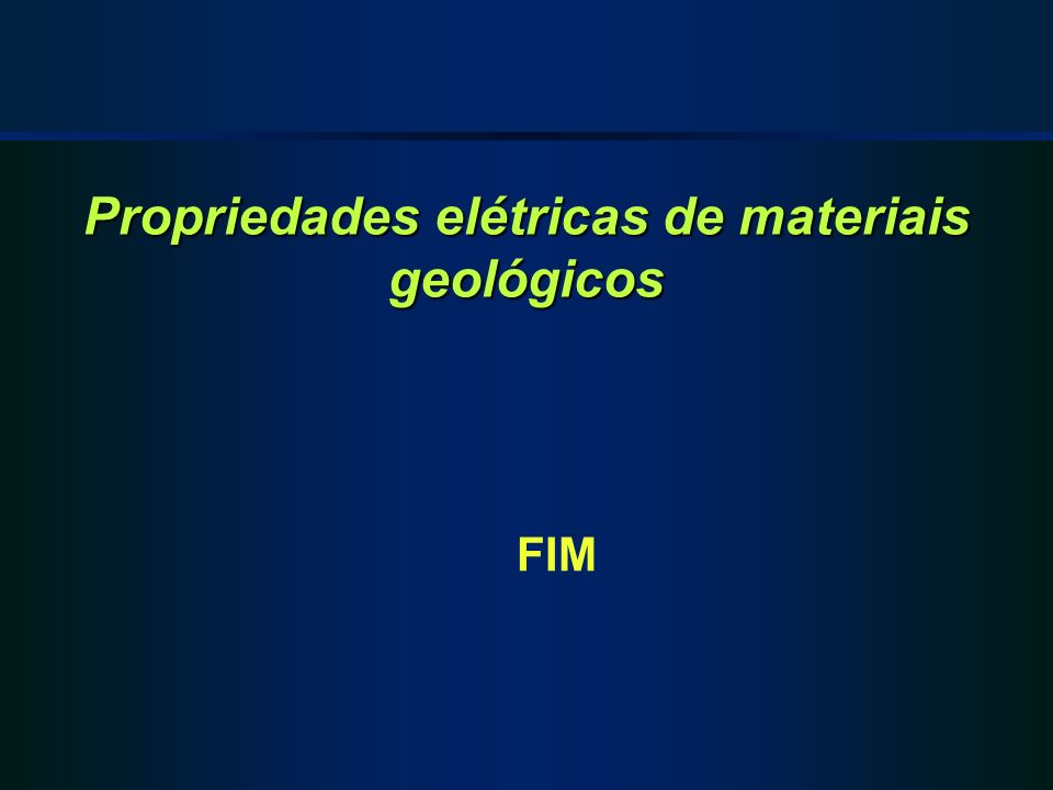 Propriedades elétricas de materiais geológicos